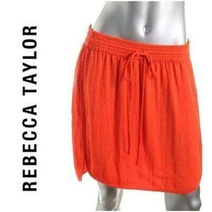 Rebecca Taylor sporty tangerine orange miniskirt